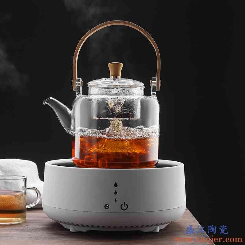 世壶蒸煮茶壶白茶煮茶器电陶炉煮茶玻璃过滤加厚蒸茶壶烧水壶泡茶