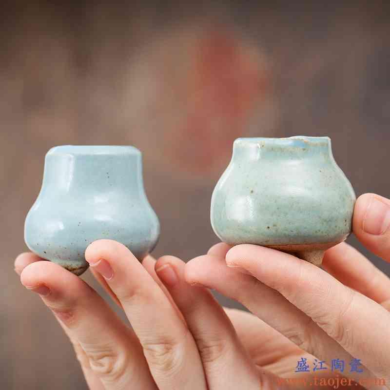 迷你拇指控特小多肉植物花盆陶瓷特价粗陶韩国创意个性可爱小老桩