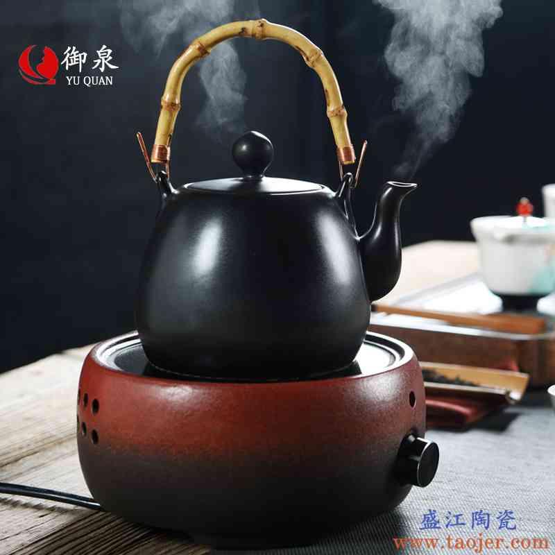 御泉黑陶煮茶炉加热烧水壶煮茶器陶瓷过滤茶壶家用电陶炉功夫茶具