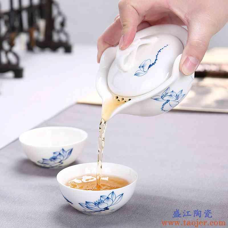 传艺窑陶瓷盖碗大号泡茶杯防烫茶壶功夫茶具三才普洱泡茶碗手抓壶