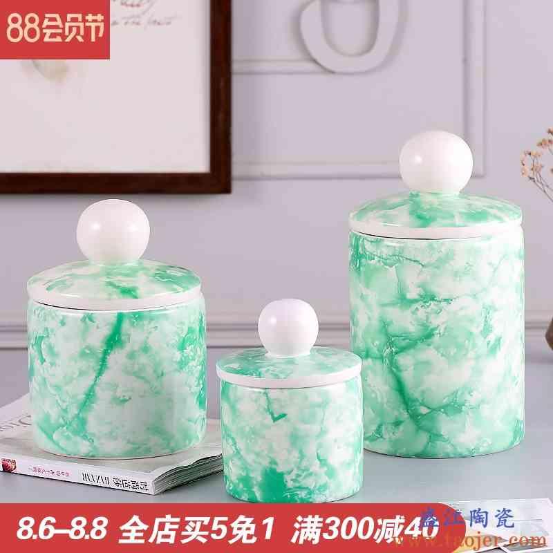 景德镇陶瓷茶叶罐家用存茶罐储存罐瓷罐绿茶红茶普洱储茶罐套装