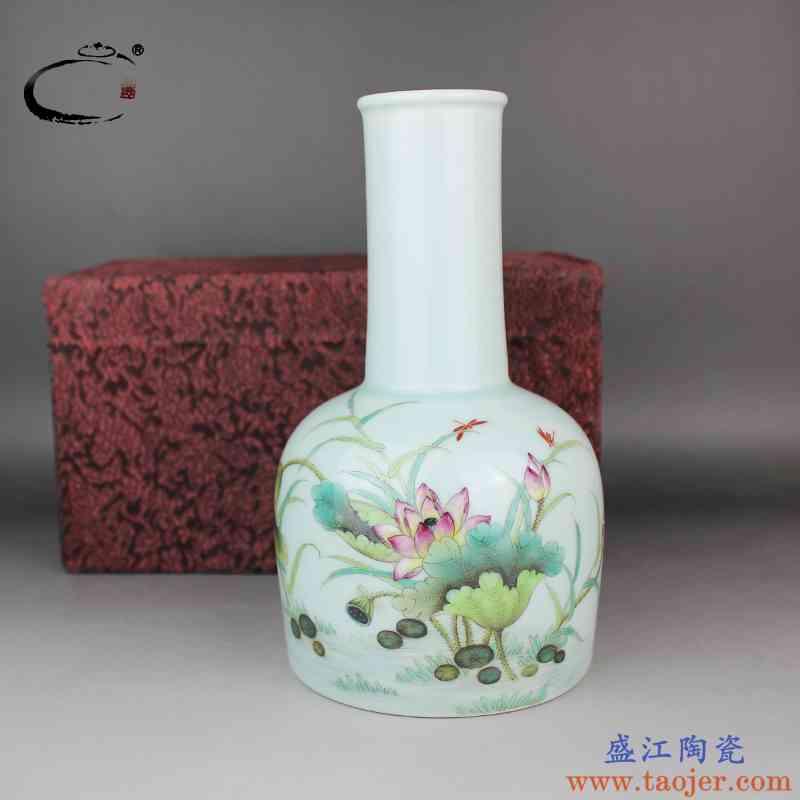 贵和祥粉彩和气致祥摇铃尊景德镇手绘陶瓷花插器家居饰品摆件花瓶