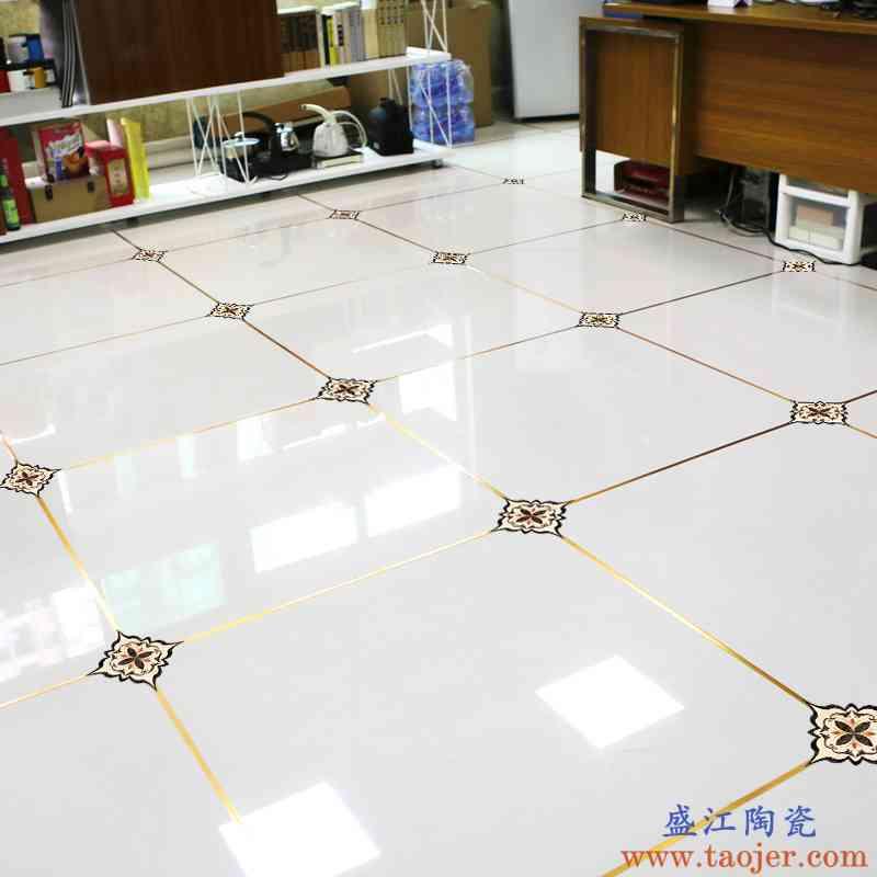 地面瓷砖装饰角花美缝贴纸卧室客厅地板地砖防水耐磨对角贴花自粘