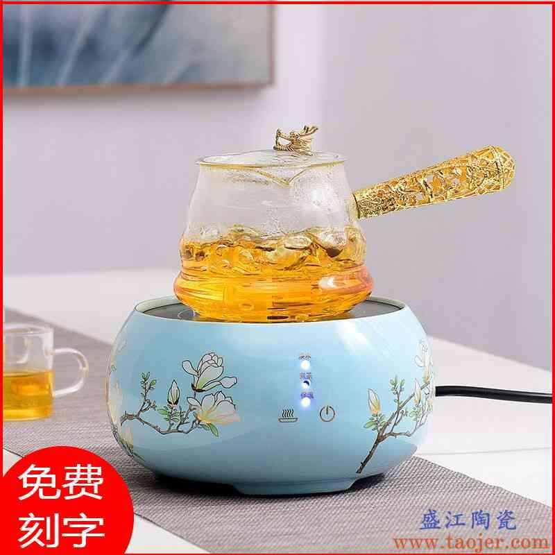 电陶炉煮茶器静音玻璃蒸茶壶黑茶煮茶壶茶炉小型家用煮茶套装养生