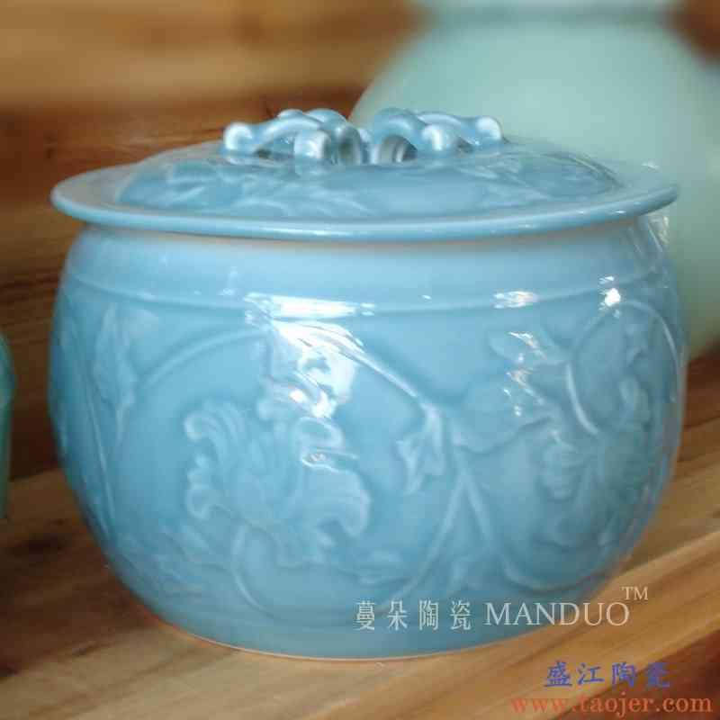 景德镇5斤装瓷器高雅米罐 高雅瓷器环保米罐 厨房高档瓷器米罐