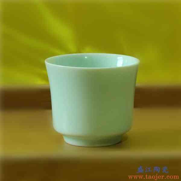 巧慕70毫升小酒杯青瓷白酒杯陶瓷烈酒杯一口杯创意家用水杯陶瓷杯