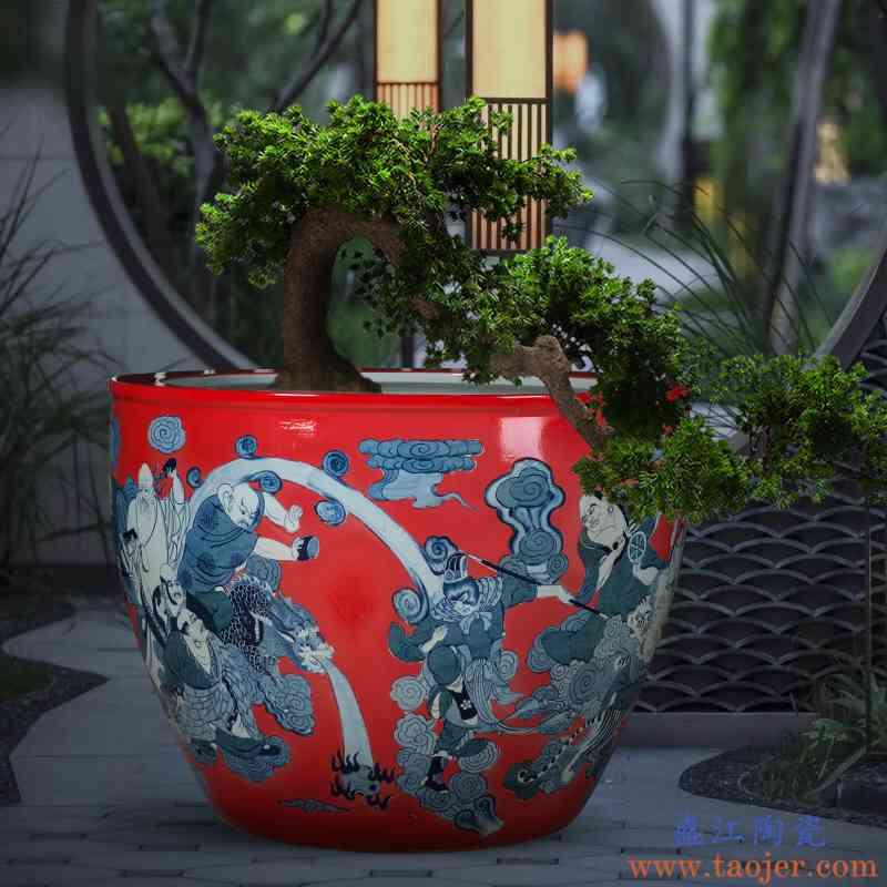摆件客厅景德镇莲缸锦鲤缸鱼缸缸碗荷花水族箱乌龟缸庭院睡莲陶瓷