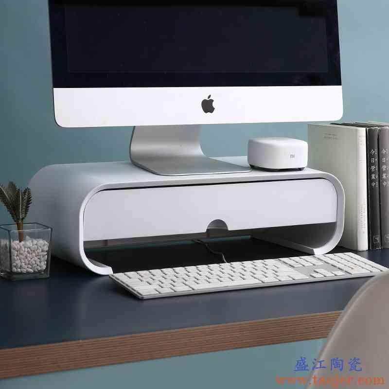 电脑增高架办公室显示器笔记本台式屏底座桌面收纳置物架抬高架子