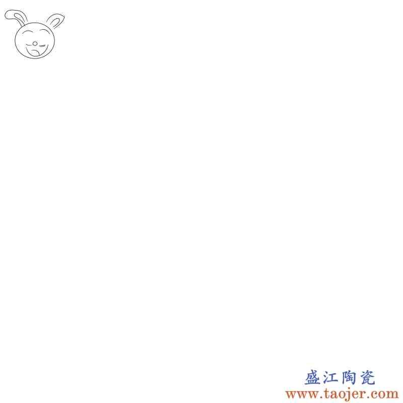 陶瓷花盆青花瓷古典中国风绿植多肉小号大号配托盘特价清仓包邮