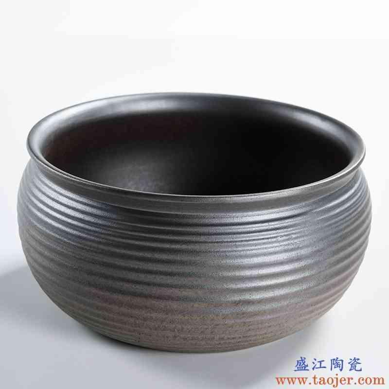 巧慕陶瓷功夫茶具大号茶洗杯洗小号笔洗简约中式水仙花盆茶道