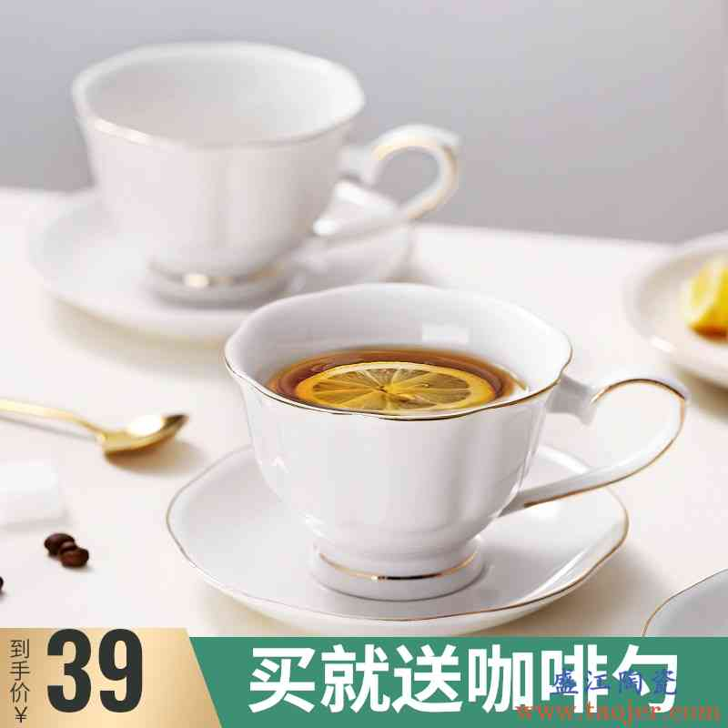 bincoo咖啡杯碟套装欧式小奢华骨瓷轻奢精致高档骨瓷ins简约网红