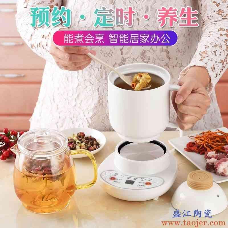 电炖杯全自动电热杯陶瓷迷你煮粥杯养生壶多功能玻璃煮茶器