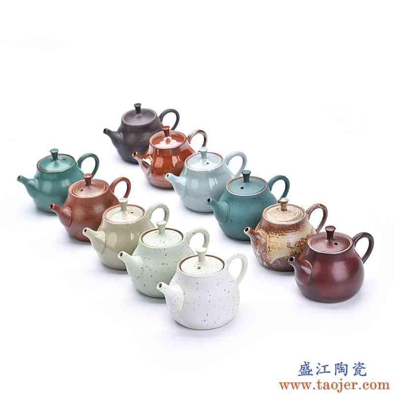 辉仕 哥窑茶壶单壶全手工整套陶瓷泡茶壶大小号开片功夫茶具套装