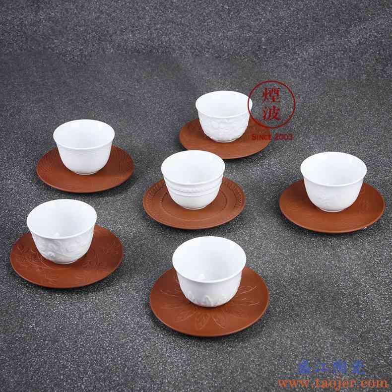 德国 MEISSEN 梅森麦森迈森瓷器器 纯白浮雕 炻碟品茗杯 茶杯