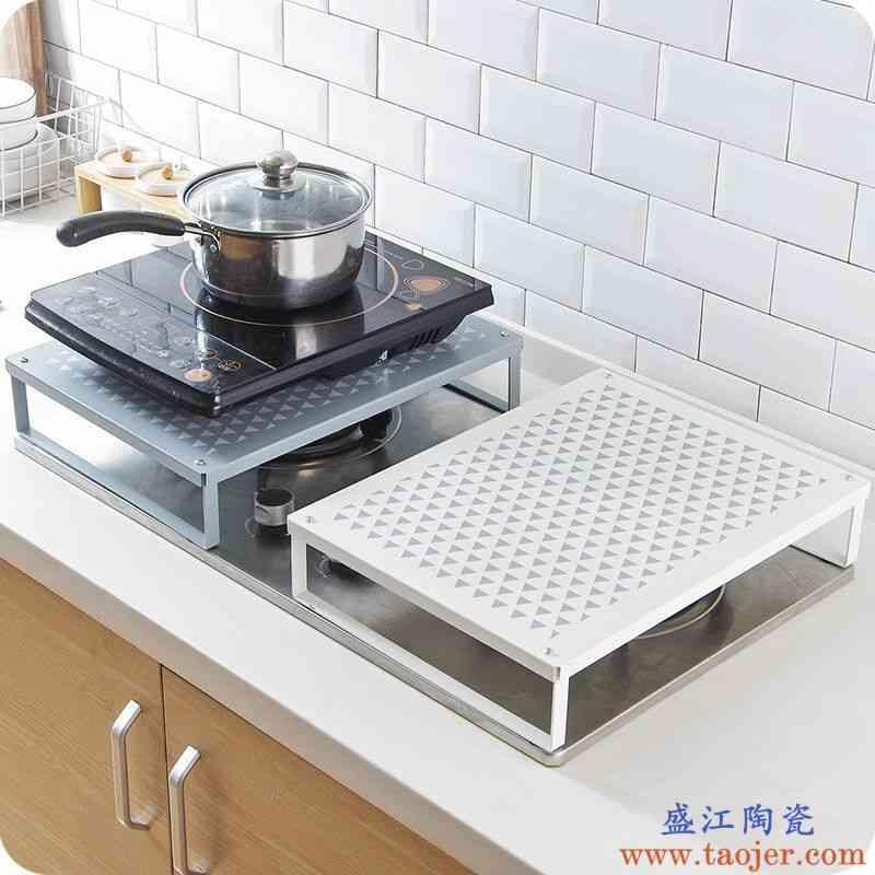 电磁炉架子支架台厨房煤气灶盖板盖底座燃气灶台铁艺收纳置物架