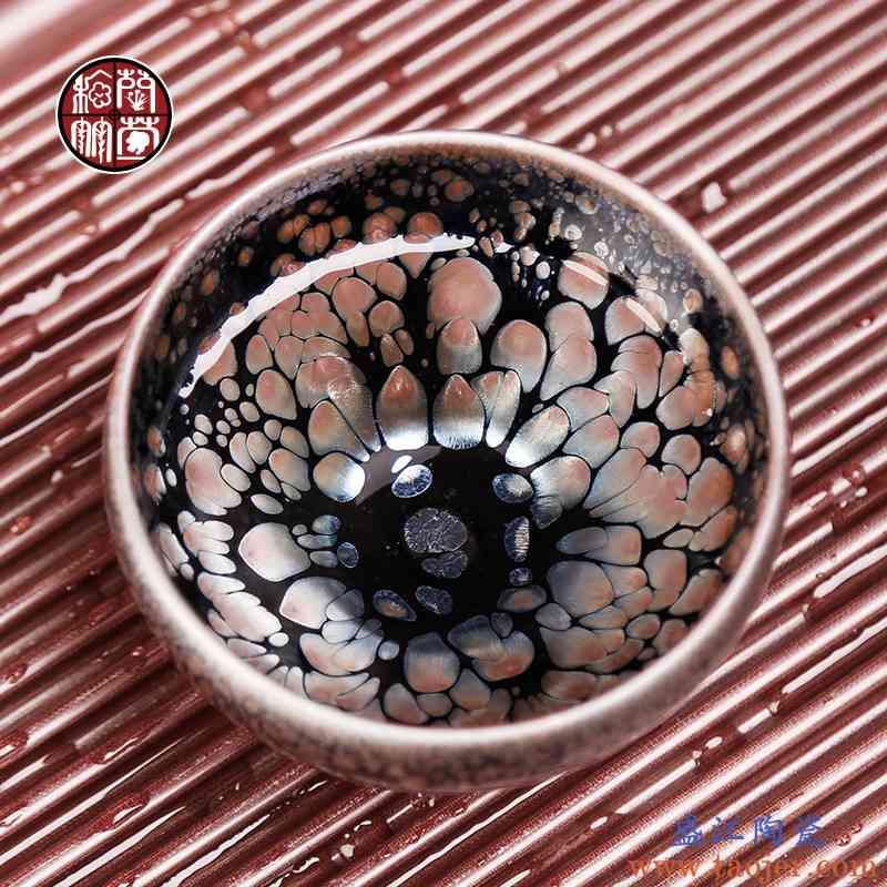 建盏主人杯纯手工个人杯建阳铁胎茶盏杯子单杯陶瓷单个大号品茗杯