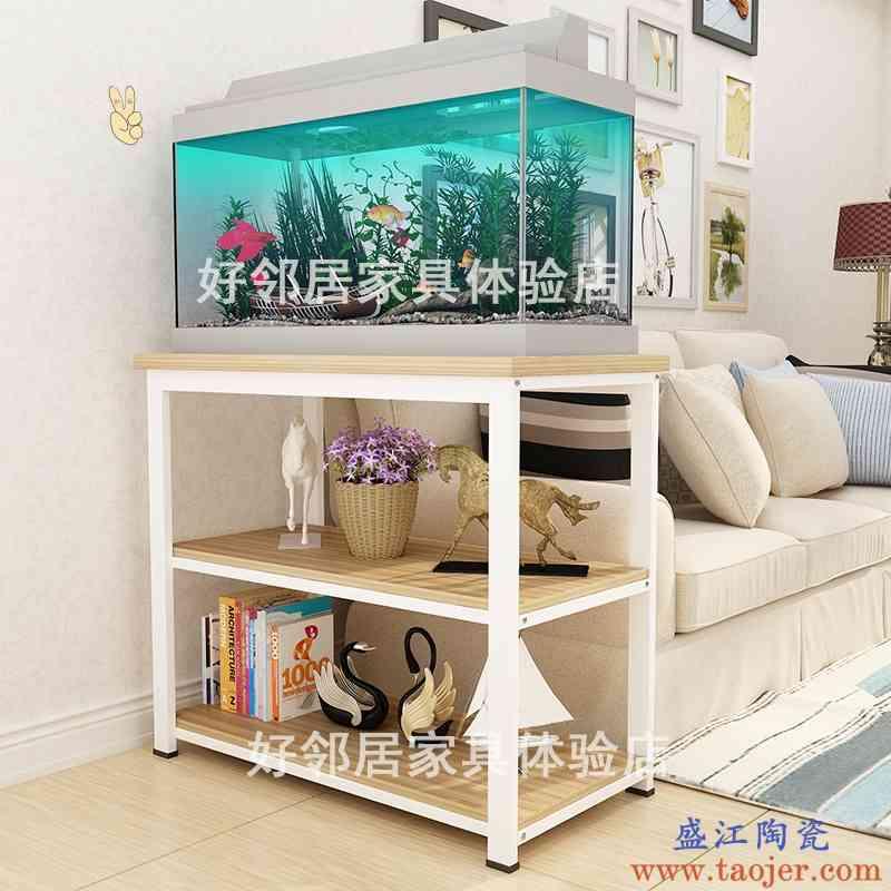 放鱼缸的架子铁艺底柜多层铝合金水族箱底座不锈钢柜子小型家用