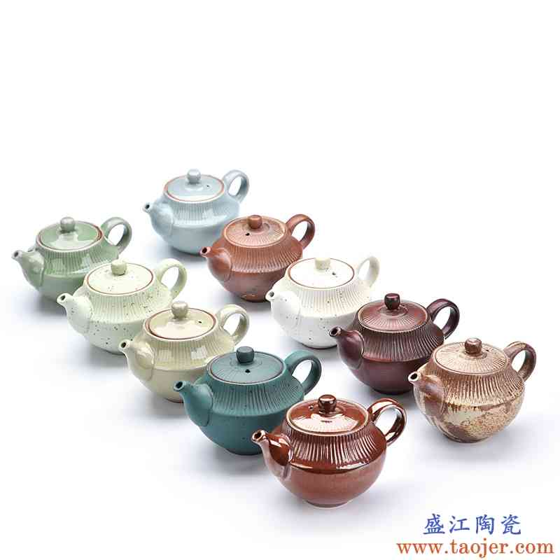 辉仕 粗陶窑变禅悟壶 复古简约陶瓷泡茶器过滤小单壶功夫茶具家用