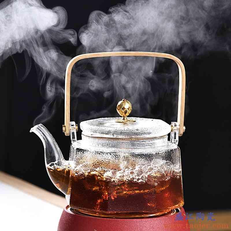 辉仕玻璃提梁茶壶烧水泡茶壶办公蒸煮茶器电陶炉耐热茶具套装家用