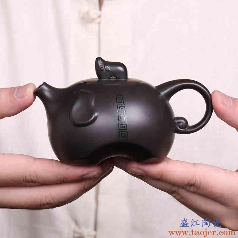 巧慕 紫砂功夫茶具套装 整套宜兴黑泥泡茶茶具家用茶壶公道杯茶漏