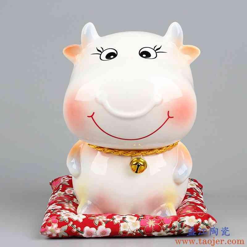 十二生肖陶瓷存钱罐牛龙羊狗鼠虎兔蛇马猴创意储蓄罐儿童礼物摆件