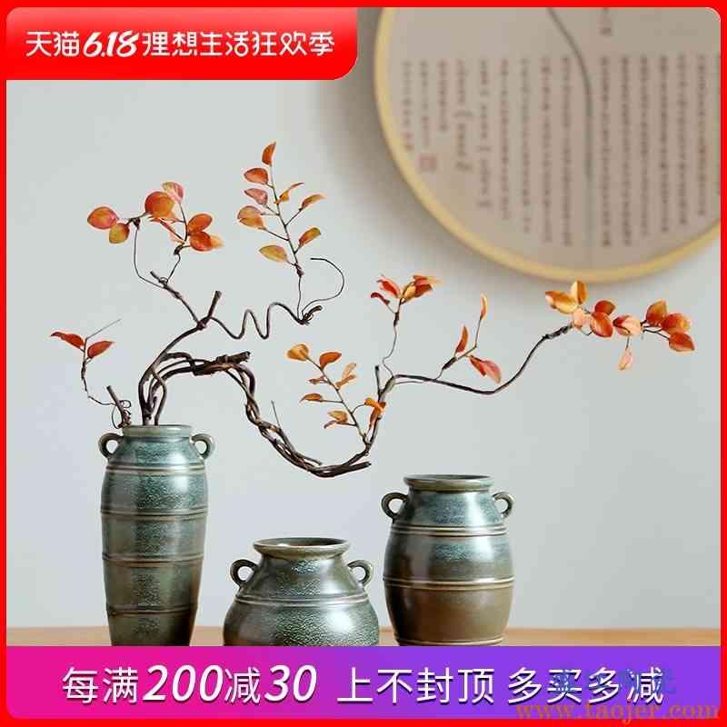 景德镇陶瓷花瓶家居客厅桌面电视柜摆设手工工艺品插花花器摆件