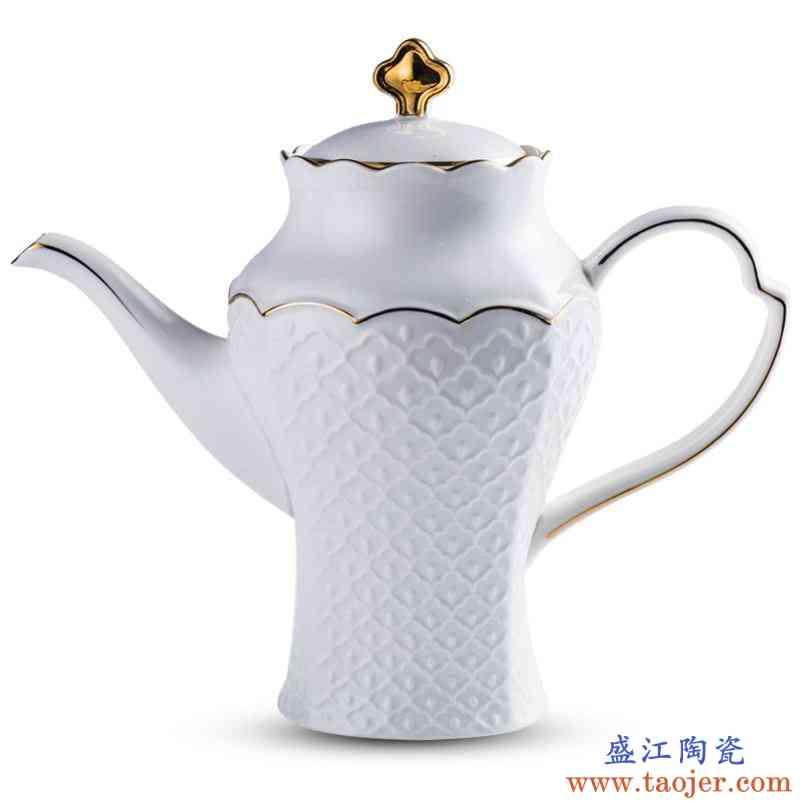 陶瓷欧式冷水壶凉水壶 家用中大号耐热大容量过滤单壶咖啡壶茶壶