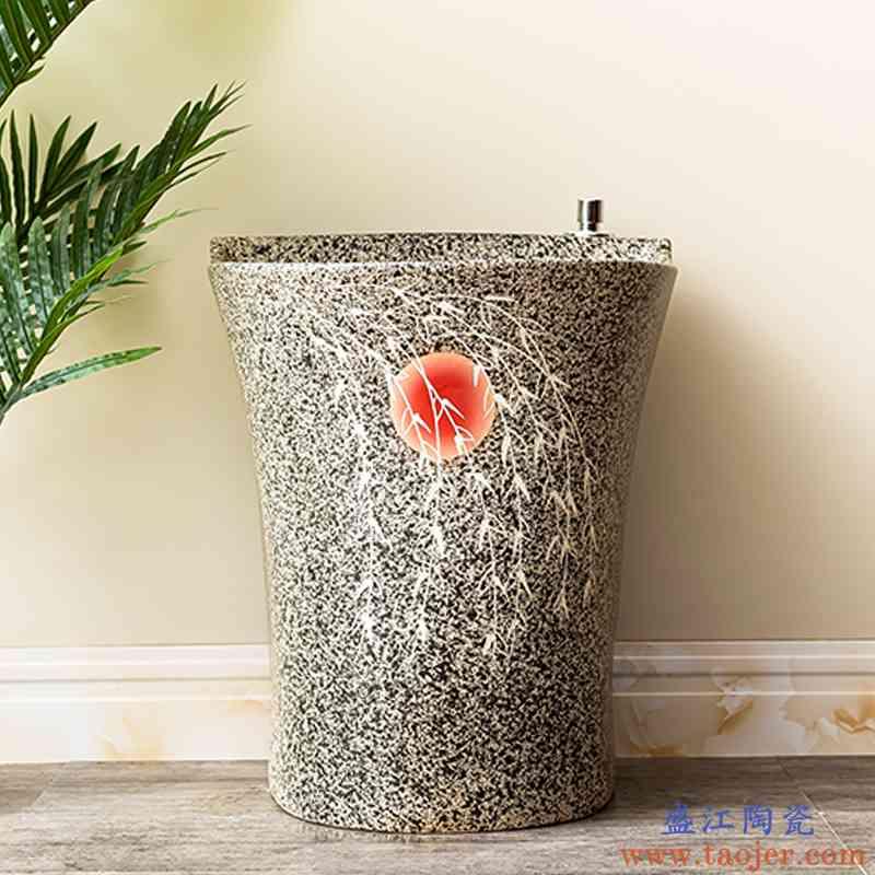 洗拖把池阳台卫生间室外拖布池自动下水水槽墩布池陶瓷家用地盆