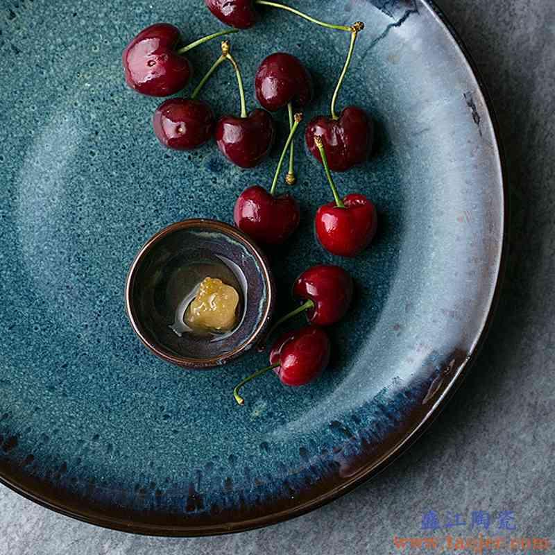 巧慕DY 欧式西餐餐具牛排盘意面盘陶瓷创意早餐盘孔雀纹大盘沙拉