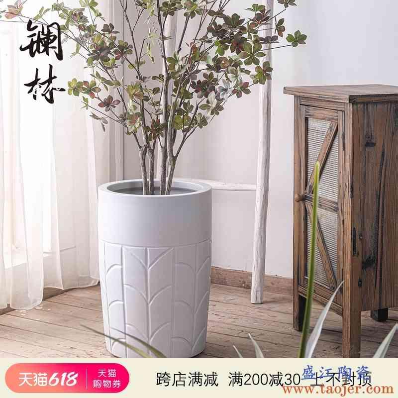 北欧风现代简约绿植陶瓷花盆客厅室内阳台户外种树盆栽大号可定制