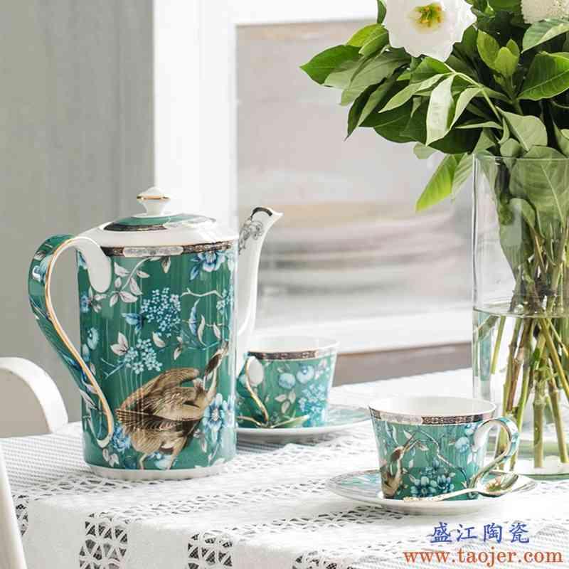 巧慕15头整套骨瓷英式下午茶欧式套装茶具陶瓷咖啡杯具礼品红茶杯