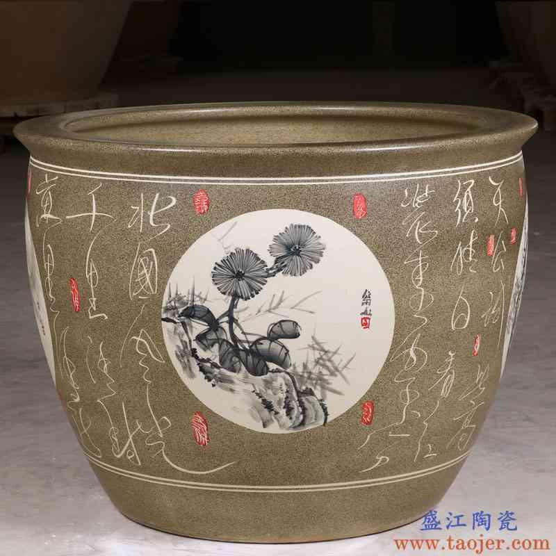 景德镇陶瓷鱼缸瓷缸大水缸特大号老式庭院大缸养荷花盆缸睡莲盆缸