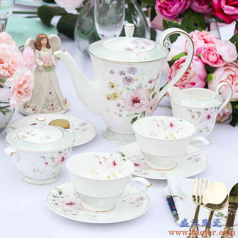 巧慕英式下午茶骨瓷咖啡杯碟套装咖啡具茶具欧式陶瓷15头家用礼品