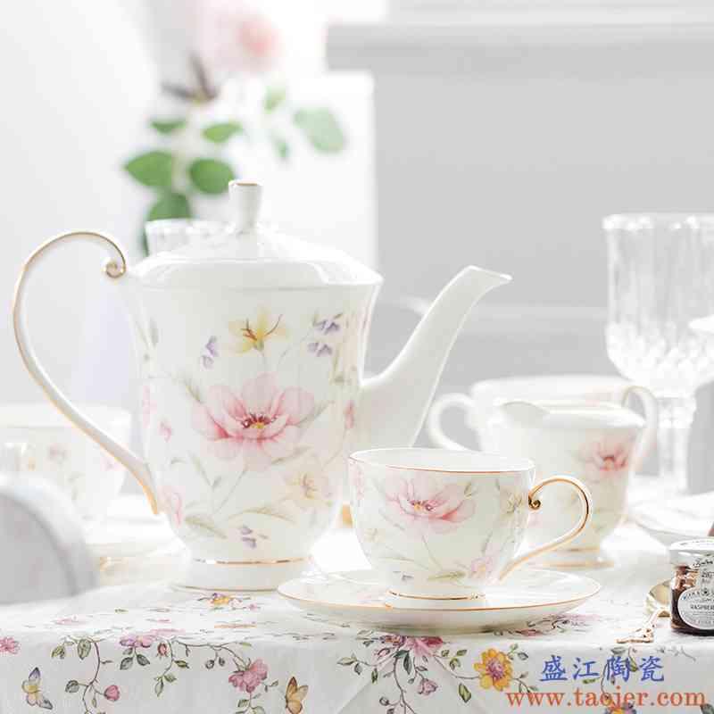 巧慕英式茶具下午茶套装家用礼品骨瓷咖啡杯欧式小奢华陶瓷红茶杯