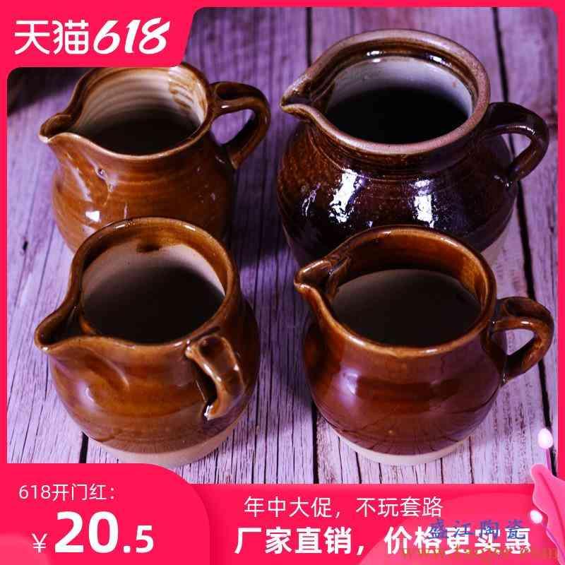 云南土陶罐粗陶煮茶罐茶艺泡茶壶民族工艺全手工餐饮具茶具公道杯