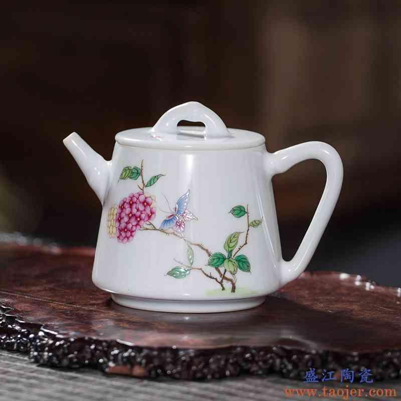 枭窑 手工陶瓷泡茶小茶壶手绘单壶石瓢壶景德镇茶具功夫茶壶